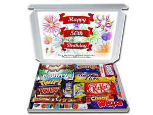 Image Is Loading Personalised 50th Birthday Gift Hamper Chocolate Selection Box