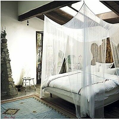 Mosquito Net For Bed Canopy Drapes Bedroom Accessories Full Queen King 4 Corner