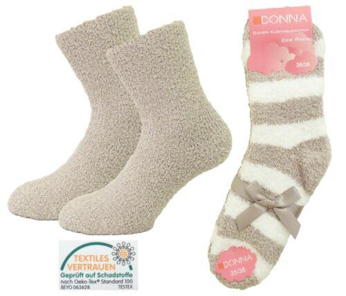 Bettsocken Haussocken Damen Kuschelsocken Supersoft-Socken im 8er Pack 35-42