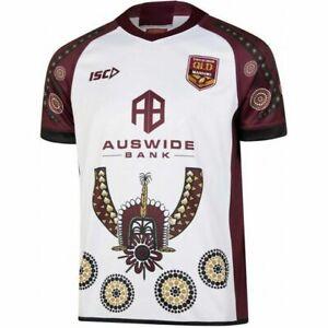 Queensland-Maroons-State-of-Origin-2019-Indigenous-Jersey-Sizes-S-7XL
