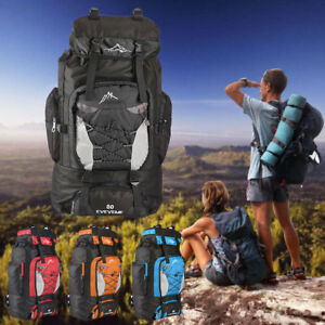 80L-Extra-Large-Nylon-Camping-Backpack-Travel-Hiking-Rucksack-Luggage-Bag-Best