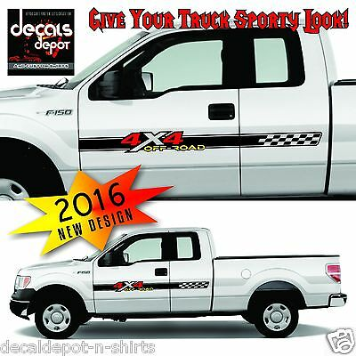 2007 Ford F150 4x4 Off Road Vinyl Decals Truck Stickers set of 3