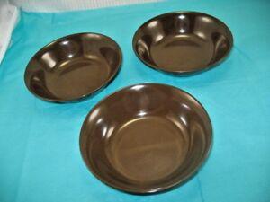 Details about Texas Ware Dark Brown Melamine Melmac Cereal Dessert Soup  Bowls A20 Vintage ~