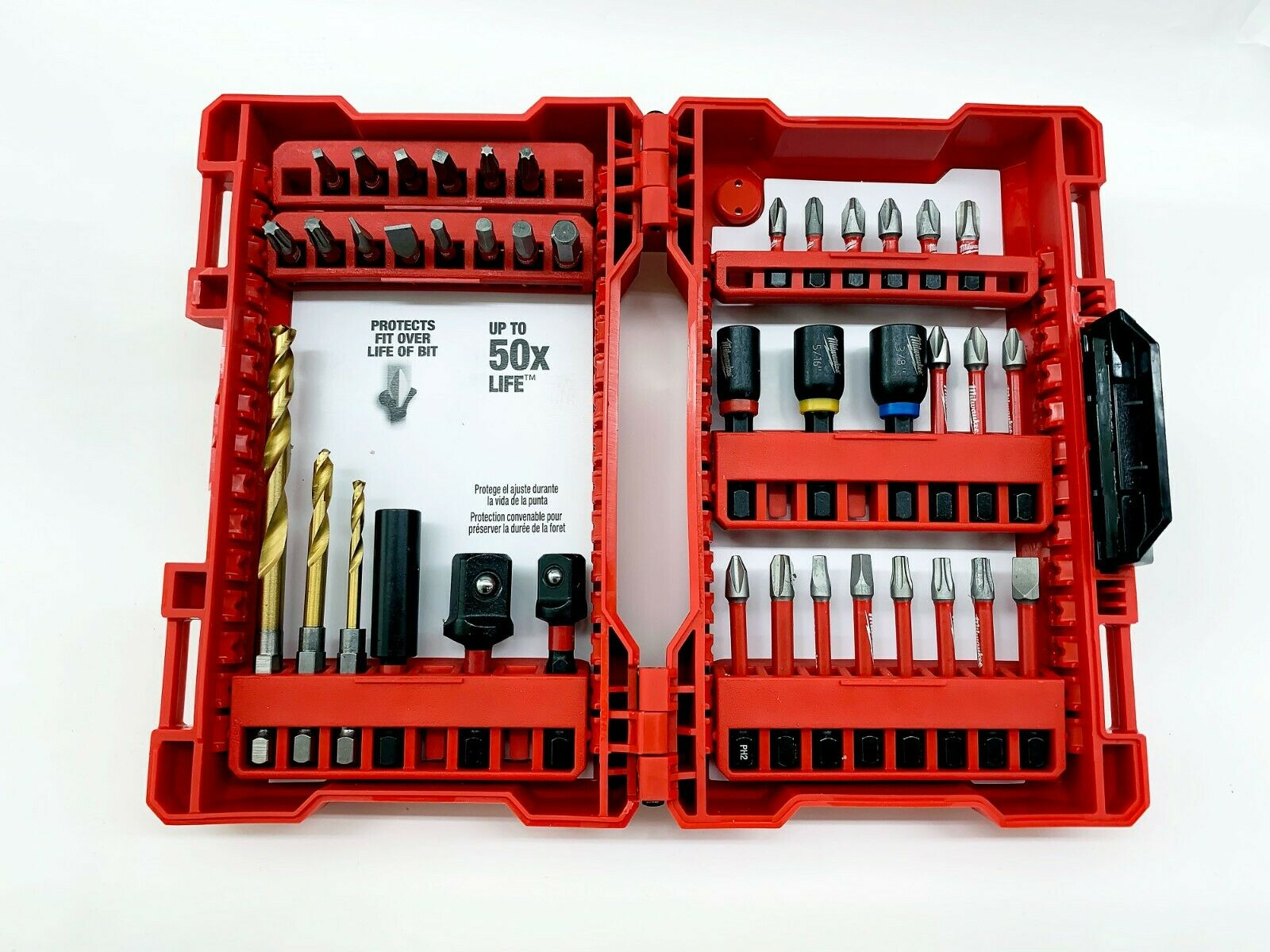 Milwaukee 48-32-4017 Shockwave 56 Piece Automotive Impact Drill and Drive Set