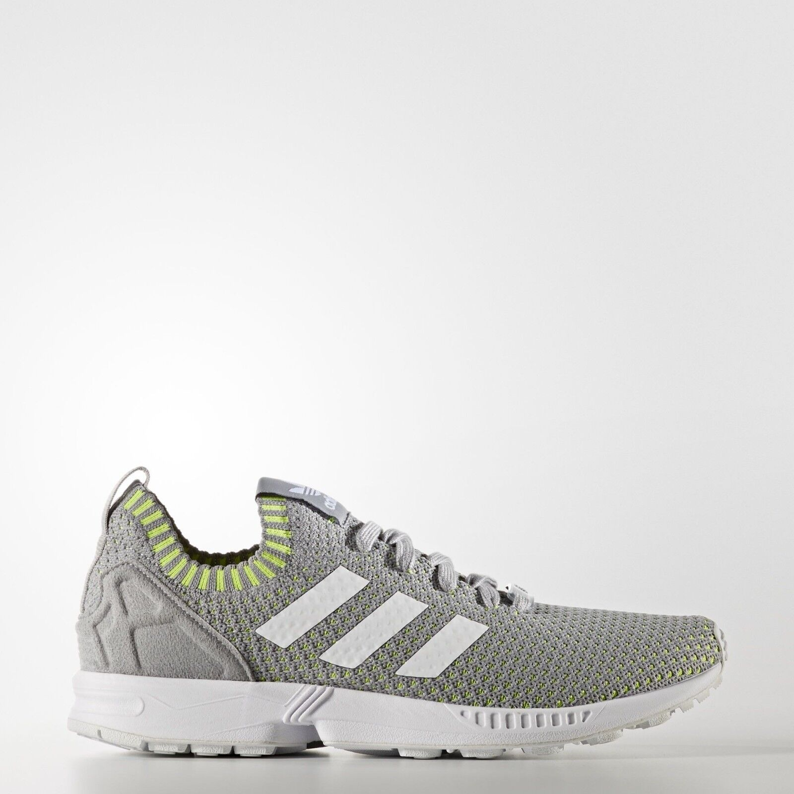 Adidas originali zx flusso pk scarpe primeknit grey / giallo scarpe pk casual sz 10,5 ba7376 b7f401