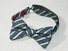 Alfani Men's Classic Adjustable Bow Tie 100% Polyester Black/Gray NWOT One Size
