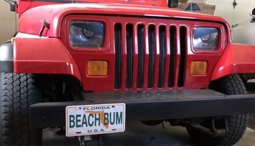 1987 1988 1989 Jeep Wrangler YJ Cherokee XJ Angry ZOMBIE Eyes Headlight Decal!!