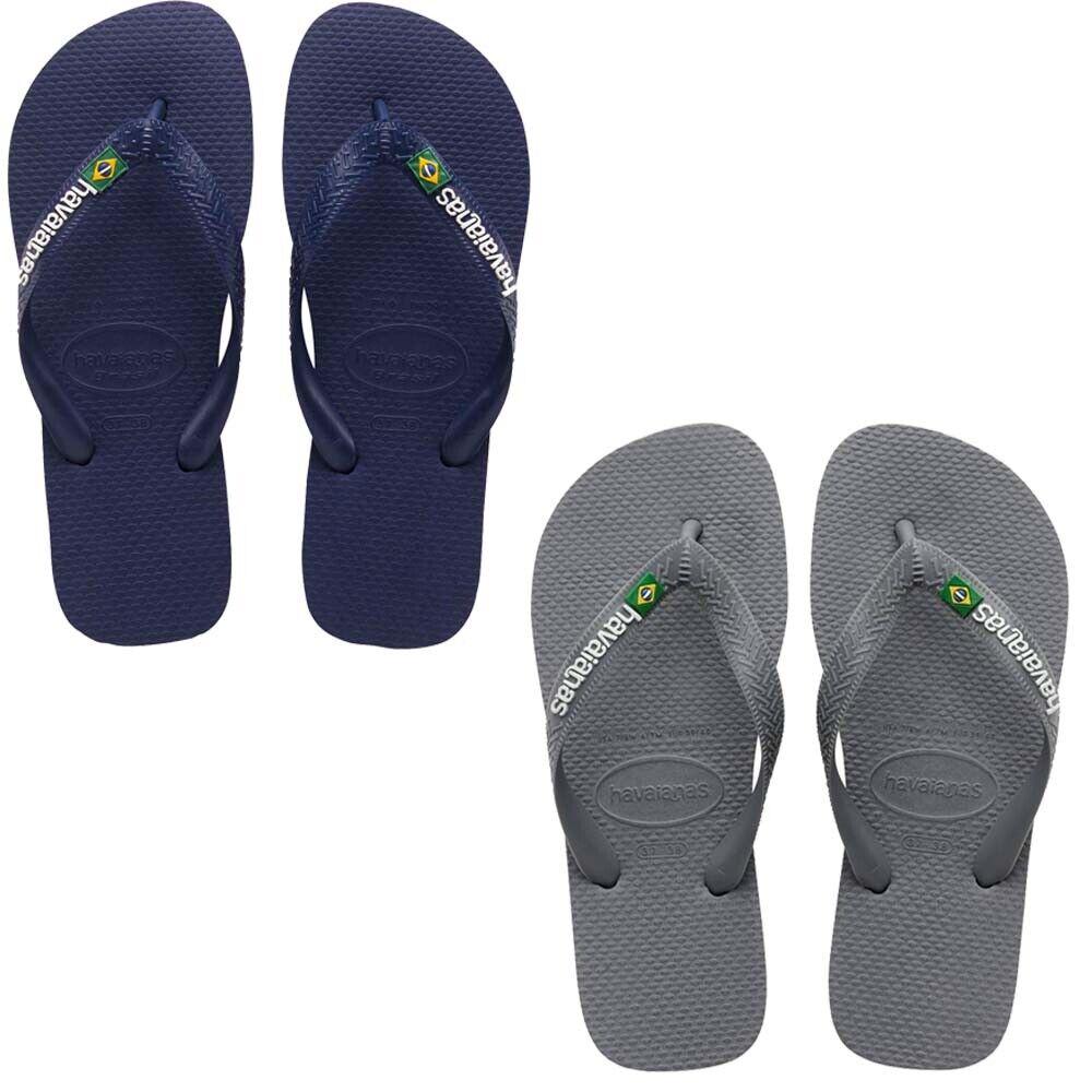 HAVAIANAS Mens Womens Flip Flops Brasil Logo Beach Water Pool Summer Shoes
