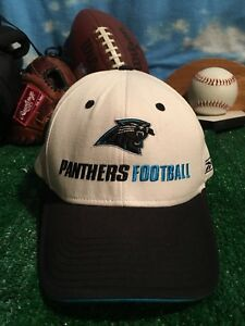b4cd90421 Image is loading Reebok-Carolina-Panthers-NFL-On-Field-Cap-hat-