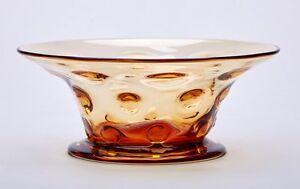 VINTAGE-THOMAS-WEBB-AMBER-GLASS-BULLS-EYE-BOWL-20TH-C