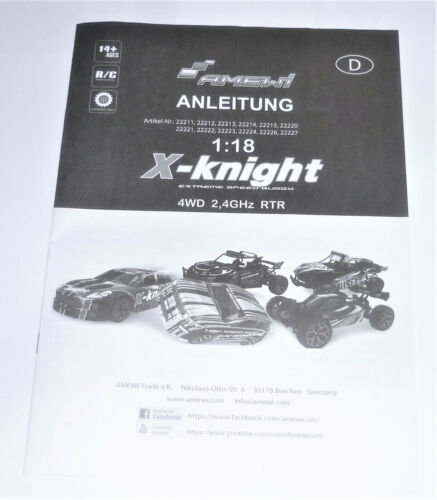 all parts e.g Amewi X-Knight RC 1:18 car parts donor motor,