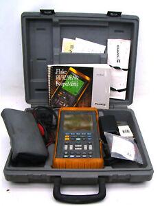 Fluke-99B-ScopeMeter-100MHz-Series-II-Oscilloscope-with-Accessories-And-Case-b