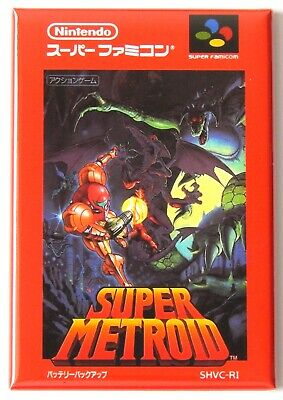 Metroid Famicom FRIDGE MAGNET video game box japan