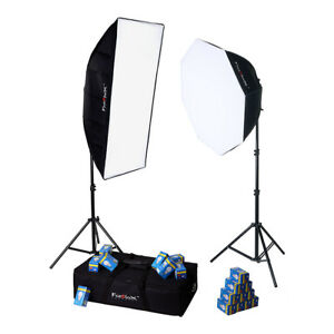 Fotodiox-LED-955-Photo-Video-Light-Kit-2x-Fixtures-1x-Softbox-1x-Octabox-Case