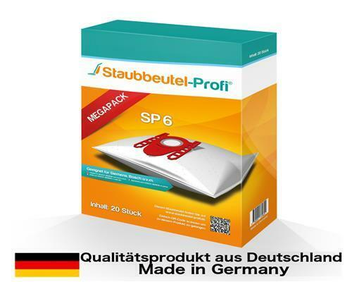 20 Staubsaugerbeutel Staubbeutel-Profi SP6 geeig für Siemens VSZ7442S