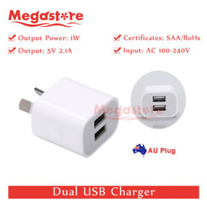Dual-USB-Phone-Wall-Charger-5v-2-1A-Power-Adapter-AU-Universal-Home-Travel-Power