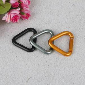 Triangle-Carabiner-Outdoor-Camping-Hiking-Keychain-Kettle-Buckle-Snap-Clip-sh