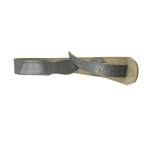 LEDER GITARRENGURT LEATHER GUITAR STRAP 7 cm BREITE Grau