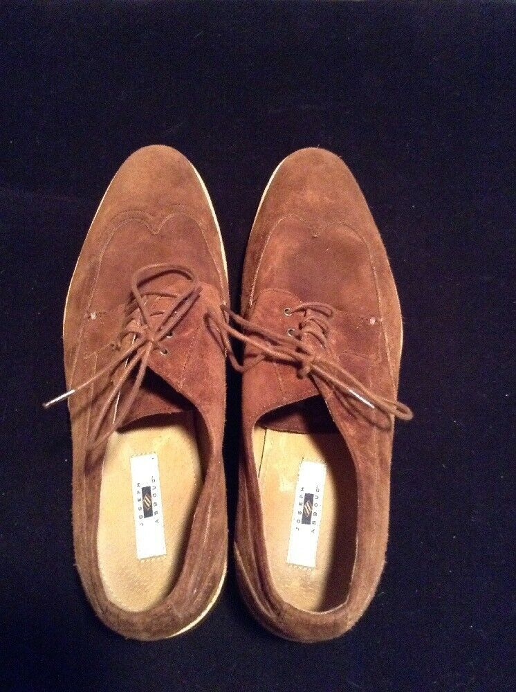 Joseph Abboud Size 10 Wing Tip Design Brown Suede Mens Shoes