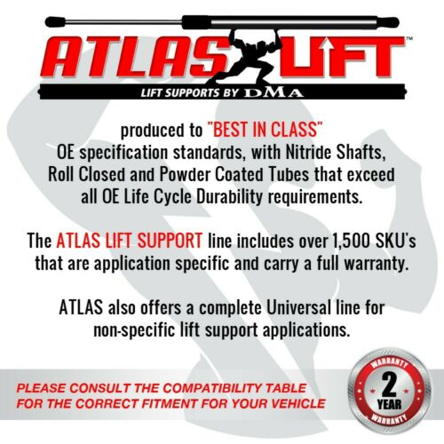 Atlas Pair Of Trunk Lid Lift Support Fits 95-99 Buick Riviera