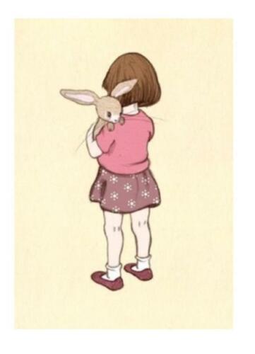 Vintage Style Belle /& Boo Postcard Belle Hugs Boo