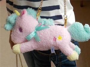 Sanrio Little Twin Stars Unicorn Pink Plush Wallet &Coin Purse& Mini Bag NEW