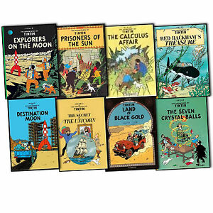 Herge-The-Adventures-of-Tintin-8-Books-Collection-Pack-Set-New