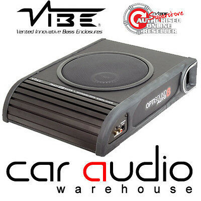 Vibe Optisound Auto 8 900 Watts Active Slim Car Van Under Seat Sub Subwoofer
