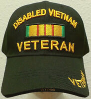 Deluxe Disabled Viet Nam Vietnam Veteran Vet Service Ribbon American Dav Cap Hat