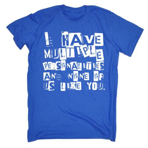 PERSONALITA /'multiple nessuno come TE t-shirt Maleducato Emo Top Divertente Regalo Di Compleanno