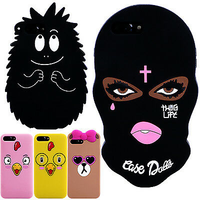 Cute Silicone Rubber Soft 3D Cartoon Pattern Back Case Cover For iPhone 6 7 Plus