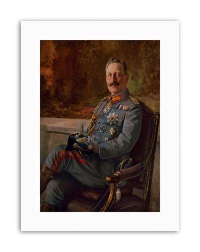 PAINTINGS KAISER WILHELM II GERMAN EMPEROR Painting Portrait Canvas art Prints