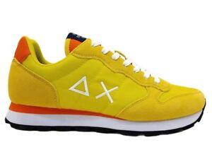 Scarpe da uomo SUN 68 Z31101 Tom sneakers basse casual sportive comode giallo