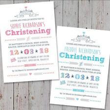 40 Personalised Christening invitations Baptism Naming Day Birthday