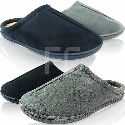 Gut Ausgebildete New Mens Gent Ultra Light Weight Slip On Hard Sole Fur Lined Slippers Shoes Size 2019 New Fashion Style Online