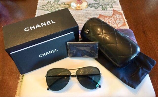 28eb7e68c6 NEW Chanel CH4223 c468 C0 Pilot Summer Dark Green (Slightly Mirrored)  Sunglasses