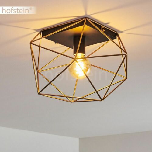 Wohn Schlaf Zimmer Beleuchtung Retro Decken Lampen schwarz//Gold Flur Leuchten