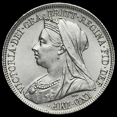1894 Queen Victoria Veiled Head Silver Shilling, G/EF