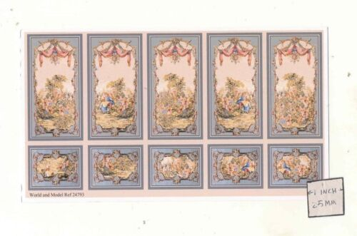 Half 1//24 Scale Wall Panel Sheet  24793 dollhouse World /& Model