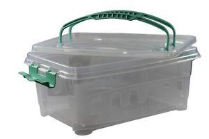 Partycontainer-verschliessbar-mit-Griffen-Transportbox-tranparent-Kuchenbox
