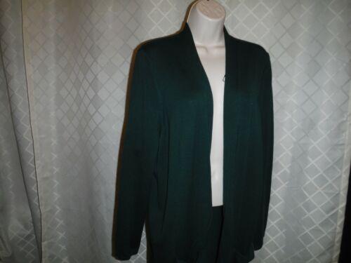 Long Sleeve Open Sweaters Cardigan/'s Croft /& Barrow 2X Olive Green NW Plum,XL