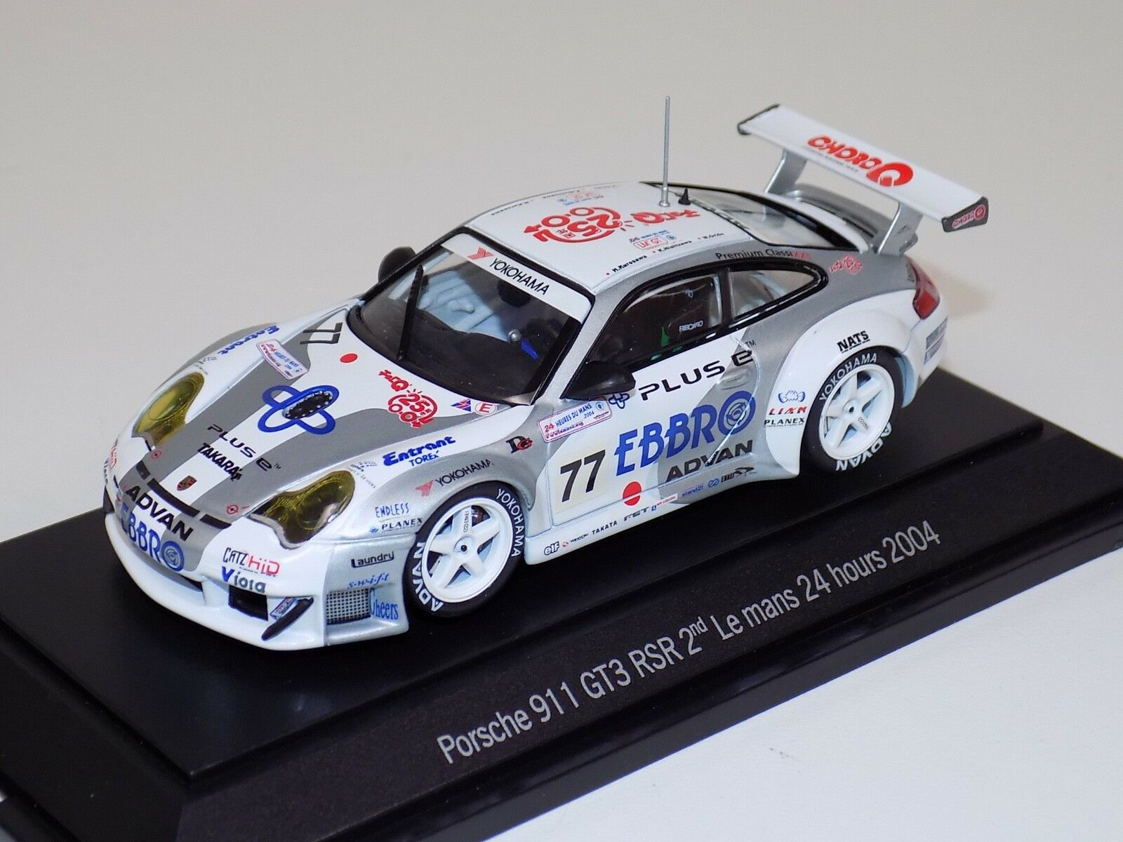 1 43 Ebbro Porsche 911 GT3 RSR 2nd GT Class 24 Hours of LeMans 2004