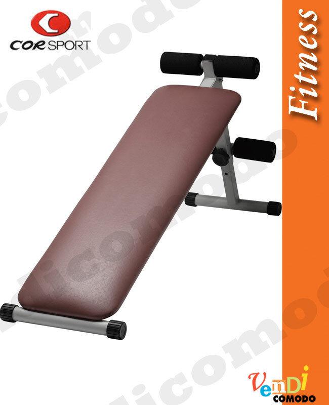 Panca pieghevole addominali CORSPORT 140x34x65cm home fitness bench palestra