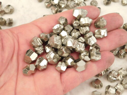 Small 100/% Natural RHOMBIC PYRITE Crystals Found in Peru! Lot of TEN 10