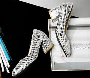Décollte Scarpe decolte sandali donna tacco quadrato 5.5  classiche argento 9178
