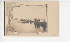 B79264 lago titicaca natureles yendo al mercado boats  peru front/back image