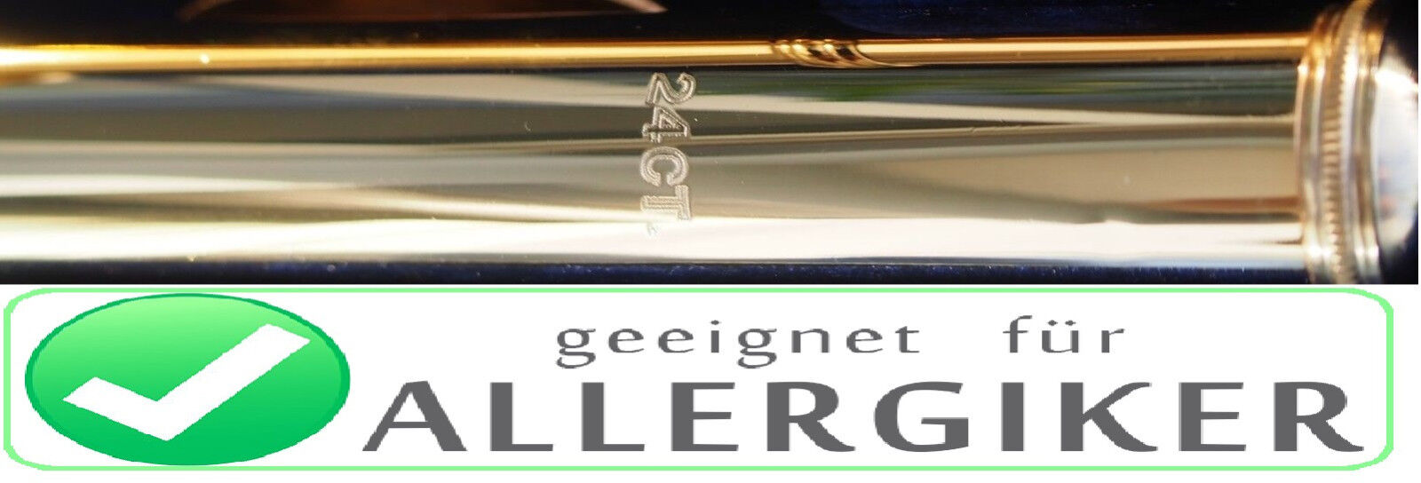 Querflöte 24 ct Gold Kopf Head 24ct Gold for Flute  ALLERGIEFREI