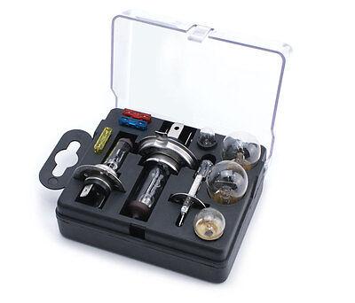 Universal 10 pcs Emergency Car Spare Bulb & Fuse Replacement Kit Set H1 H4 H7