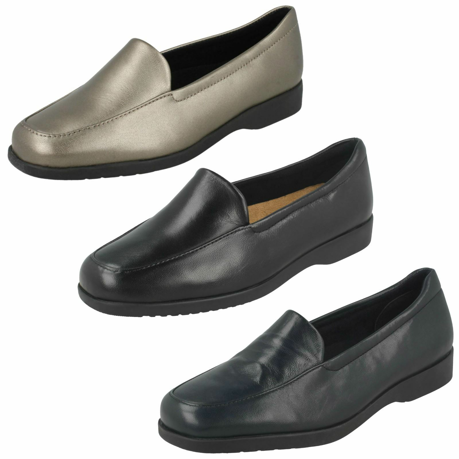 Ladies Clarks Flat Loafer Style shoes - Georgia