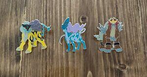 Pokemon Legends of Johto Pin CollectionEntei Raikou Suicune Pins.